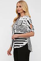 Модная легкая женская блузка из натурального льна батал, размер от 52 до 58, фото 3
