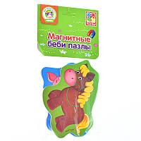 """Магнитные беби пазлы """"Лошадка и поросенок"""" VT3208-05 (рус) (50)"""