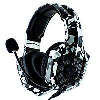 Наушники Onikuma K8 игровая гарнитура для компьютера Grey