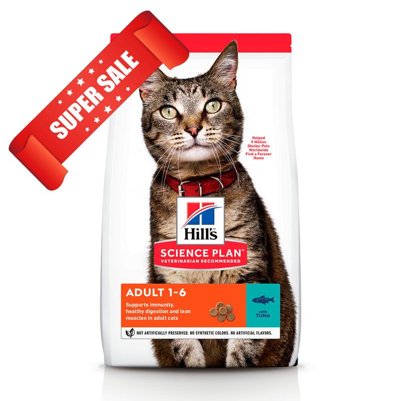 Сухой корм для кошек Hill's Science Plan Feline Adult Tuna 3 кг