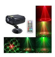 Лазерный проектор световых эффектов, MINI Party Light EMS083 лазерная гирлянда, светомузыка (6738)