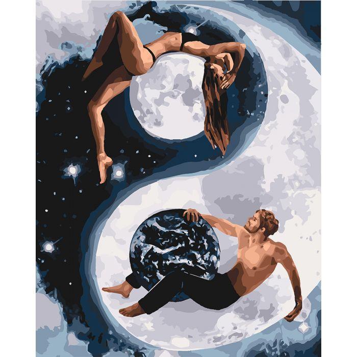 Картина по номерам Инь и янь ТМ Идейка 40 х 50 см КНО4620