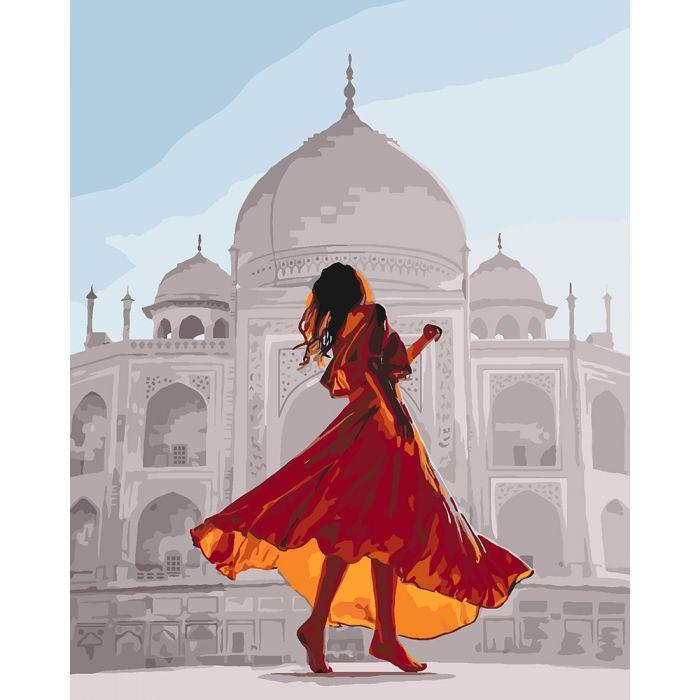 Картина по номерам Жемчужина Индии ТМ Идейка 40 х 50 см КНО4639