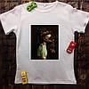 Мужская футболка с принтом - Девушка с доберманами