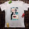 Мужская футболка с принтом - Склеенное лицо
