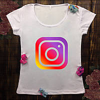 Женская футболка  с принтом - Инстаграм