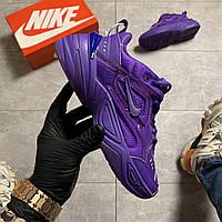 Женские кроссовки Nike M2K Tekno Violet, Женские Найк М2К Текно Фиолетовые Кожаные