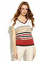 """Женская польская блуза короткий рукав полосатая """"Raquaja """" /размер 46 (3XL)"""