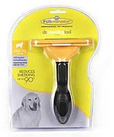 Фурминатор Великий для Довгошерстих Собак Furminator з Кнопкою для Відкидання Вовни, фото 1