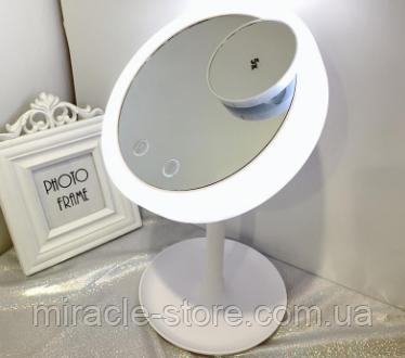 Зеркало косметическое c подсветкой Brise Fraiche Led с вентилятором увеличительное, фото 2