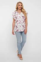 Нежная блузка в принт больших размеров от 52 до 58, фото 2