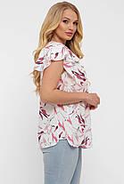 Нежная блузка в принт больших размеров от 52 до 58, фото 3