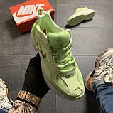 Женские кроссовки Nike M2K Tekno Light Green, Женские Найк М2К Текно Зеленые Кожаные, фото 2
