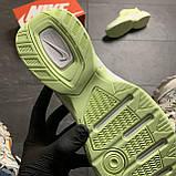 Женские кроссовки Nike M2K Tekno Light Green, Женские Найк М2К Текно Зеленые Кожаные, фото 6