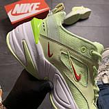 Женские кроссовки Nike M2K Tekno Light Green, Женские Найк М2К Текно Зеленые Кожаные, фото 7