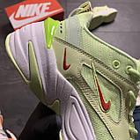 Женские кроссовки Nike M2K Tekno Light Green, Женские Найк М2К Текно Зеленые Кожаные, фото 9