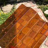 Монолитный профилированный поликарбонат (трапеция) янтарь 1,05*3м Borrex (Боррекс), фото 1