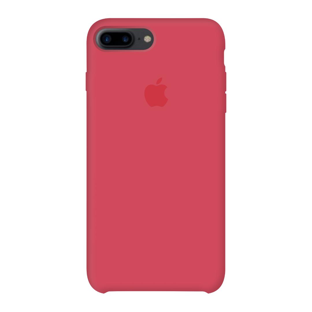 Силиконовый чехол на айфон/iphone 7 plus/8 plus red raspberry красно малиновый