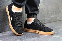 Кеды Converse All Star, черные с коричневым, 44р. по стельке - 28,5см