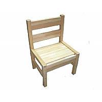 Стілець для дит садка, спинка і сидіння тверді (розібраний) бук *