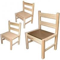 Стілець для дит садка, спинка і сидіння тверді бук не фарбований