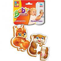 """Беби пазлы магнитные  """"Пушистики"""" ((5)) (50)"""