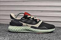 Мужские кроссовки Adidas ZX4000 черные (демисезонная модель, натуральная замша, текстиль, рефлектив)