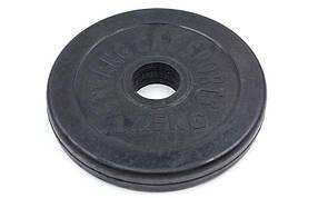 Блины (диски) обрезиненные d-30мм Shuang Cai Sports ТА-1441 1,25кг (металл, резина, черный)