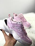 Женские кроссовки Nike M2K Tekno Pink Foam, Женские Найк М2К Текно Розовые Кожаные
