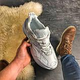 Женские кроссовки Nike M2K Tekno Triple White, Женские Найк М2К Текно Белые Кожаные, фото 3