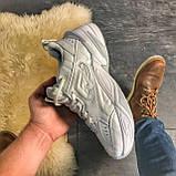 Женские кроссовки Nike M2K Tekno Triple White, Женские Найк М2К Текно Белые Кожаные, фото 4