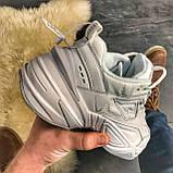 Женские кроссовки Nike M2K Tekno Triple White, Женские Найк М2К Текно Белые Кожаные, фото 6