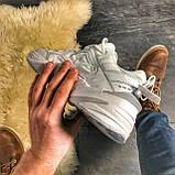 Женские кроссовки Nike M2K Tekno Triple White, Женские Найк М2К Текно Белые Кожаные, фото 8