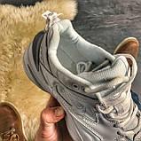 Женские кроссовки Nike M2K Tekno Triple White, Женские Найк М2К Текно Белые Кожаные, фото 9