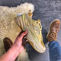 Женские кроссовки Nike M2K Tekno Linen, Женские Найк М2К Текно Желтые Кожаные