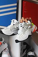 Женские кроссовки Nike M2K Tekno White, Женские Найк М2К Текно Белые Кожаные