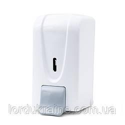 Диспенсер (дозатор) дезинфецирущего кошти, мила і мила-піни 1л білий пластик DSA 100
