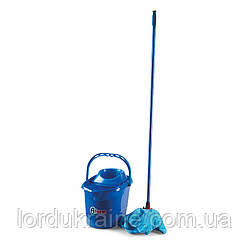 Набор для уборки(швабра+ведро 12л) синий пластик COMFORT TS 107