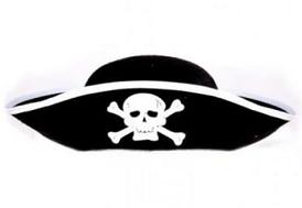 Шляпа маскарадная, B00338 черный пират