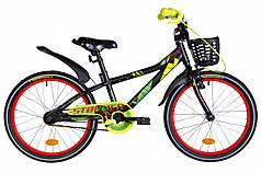 """Велосипед 20"""" Formula STORMER 2020 (черно-красный с желтым)"""