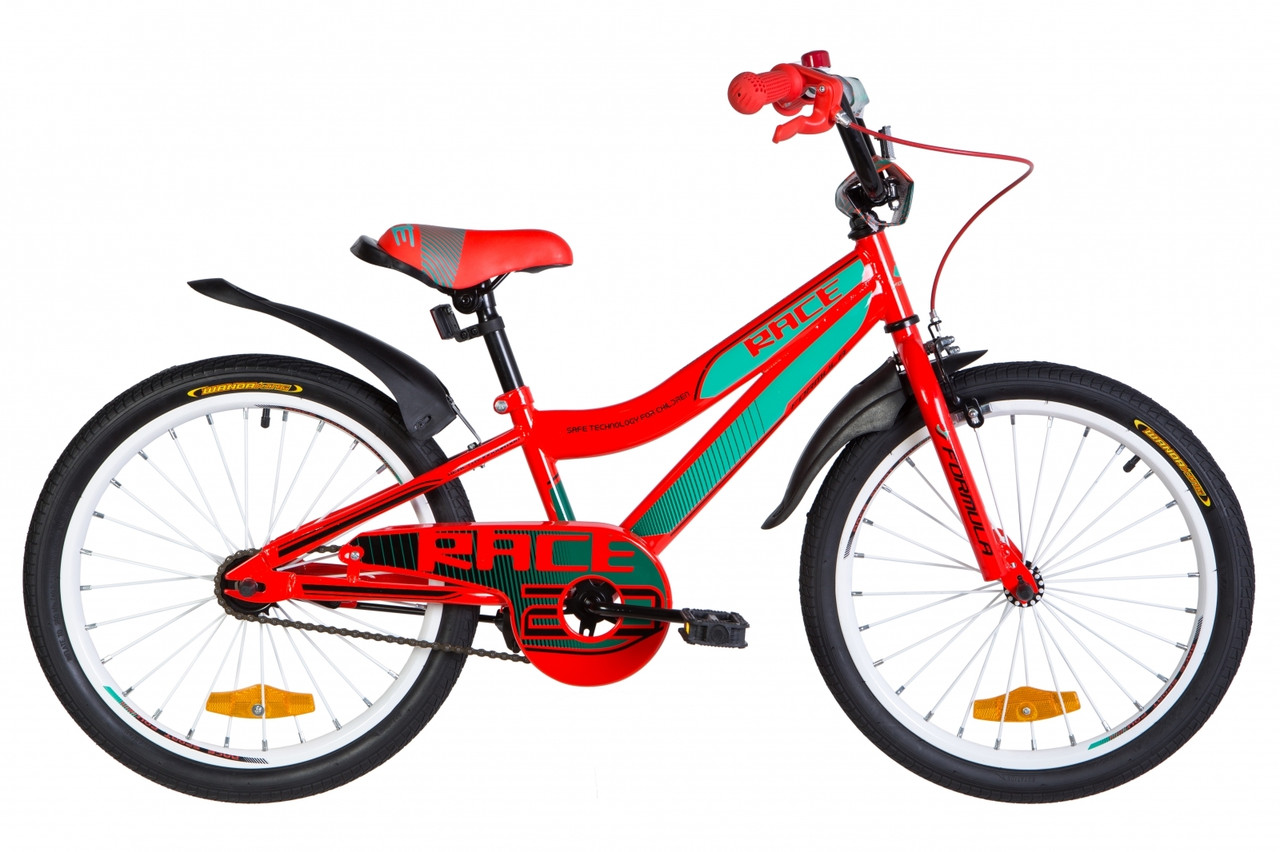 """Велосипед 20"""" Formula RACE 2020 (красно-бирюзовый с черным)"""