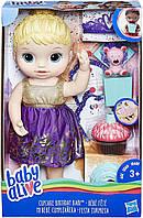 Baby Alive Кукла пупс праздник День рождения блондинка Cupcake Birthday