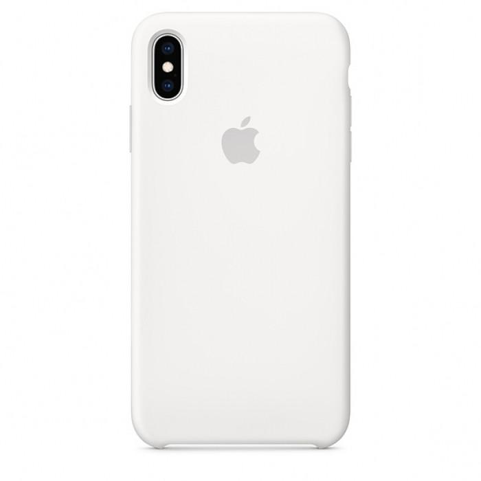 Силиконовый чехол на айфон/iphone Х/Хs white белый