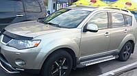 Mitsubishi Outlander 2006-2012 Боковые пороги Allmond Grey