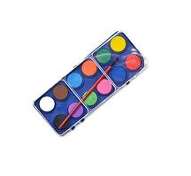 Фарби акварельні сухі 12цв з пензликом, ST00202