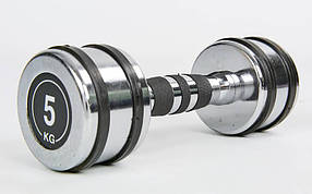 Гантель хромированная Record TA-8232-5 (1x5кг) (1шт, металл хромированный)