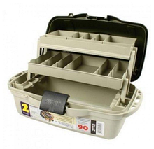 Ящик для снастей Kronos AQT-2702 двухъярусный со съемными перегородками (40х19.5х21 см)