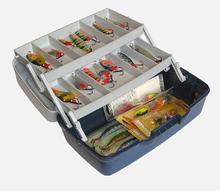 Ящик для снастей Kronos AQT-1702 двухъярусный со съемными перегородками (30.5 * 18.5 * 15см)