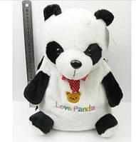 Панда рюкзак плюшевый