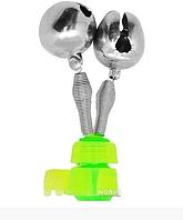 """Дзвіночок 2 бубонця з кріпленням """"Фідер"""" д.16мм 100шт / уп SF23985, Stenson"""